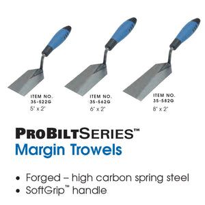 "SuperiorBilt ProBilt Series 5"" x 2"" Margin Trowel"
