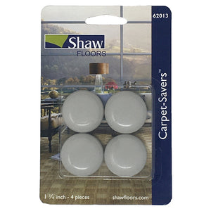 "Shaw 1.25"" Cream Peel Back Felt Carpet Saver Pads 4 Units"