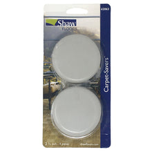 "Shaw 2-3/4"" Gray Slider Peel Back Carpet Saver Pads 4 Units"