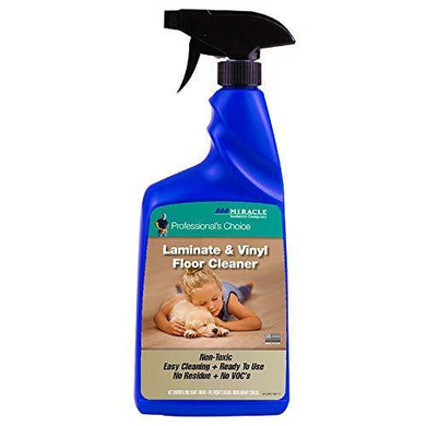 Miracle Sealants LVFC32OZ6 Laminate and Vinyl Floor Cleaner Spray Ready to Use Non-Toxic Quart 32oz