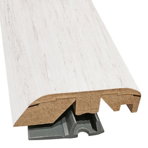 "Quick-Step Performance Accessories 84.2"" (2.15m) Multifunctional Molding in Color White Brushed Pine U1235 Eligna, includes track and Incizo tool"