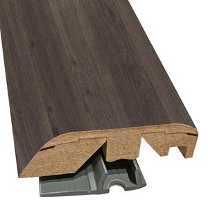 "Quick-Step Performance Accessories 84.2"" (2.15m) Multifunctional Molding in Color Dark Grey Varnished Oak U1305 Eligna, includes track and Incizo tool"