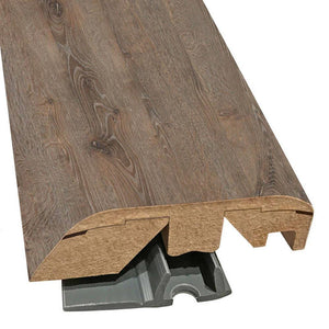 "Quick-Step Performance Accessories 84.2"" (2.15m) Multifunctional Molding in Color Terrain Oak US3227 Elevae, includes track and Incizo tool"