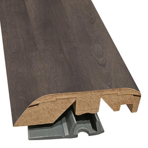 "Quick-Step Performance Accessories 84.2"" (2.15m) Laminate Multifunctional Molding Door & Threshold Profile in Color Inked Oak  Elevae, includes track and Incizo tool"