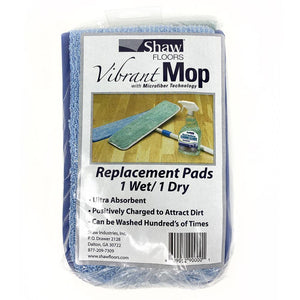 Shaw Vibrant Mop Kit (1 Mop Handle/Head + 2 Microfiber Pads)