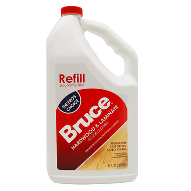 Bruce Hardwood and Laminate Floor Cleaner for All No-Wax Urethane Finished Floors Refill 64oz