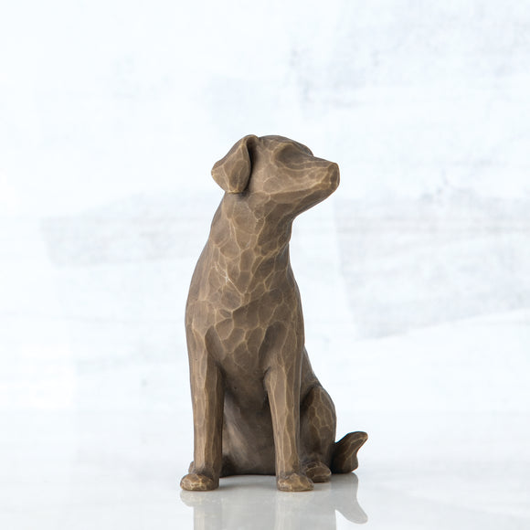 Love my Dog (dark) - Willow Tree Figurine