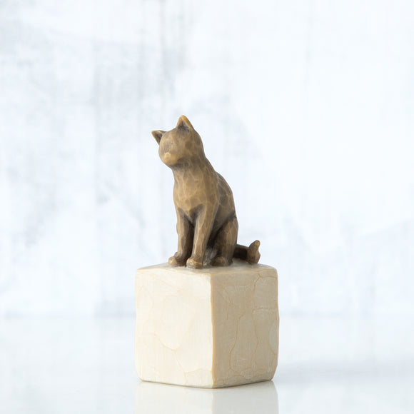 Love my Cat (dark) - Willow Tree Figurine