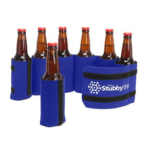 Stubby Strip Original Neoprene Bottle or Can Holder (Blue)