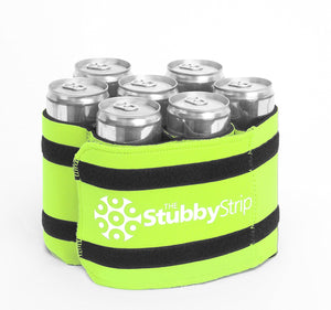 Stubby Strip Original Neoprene Bottle or Can Holder (Green)