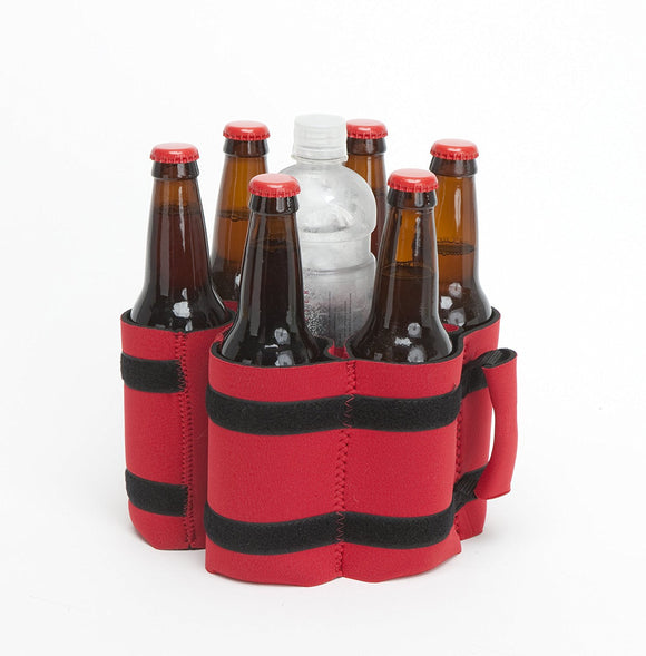 Stubby Strip Original Neoprene Bottle or Can Holder (Red)
