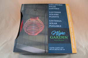 Collapsible Solar Lantern - Round Red