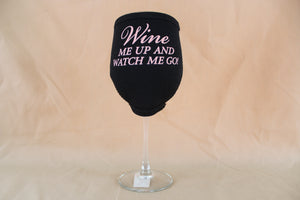"W.I.N.O.S. Boxed Wine Glass w/ Insulator - ""Wine me up & Watch me go"""