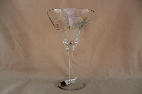 Wine Things - Etched Martini Glass