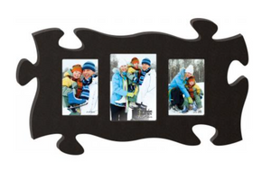 Black 3 Photo Piece - Wall Puzzle Photo Frame - P. Graham Dunn
