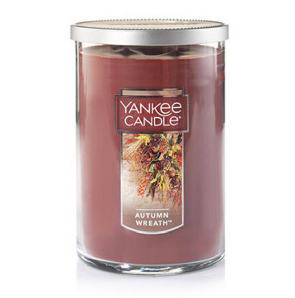 Autumn Wreath (Fragrance) - Large 2 Wick Tumbler Candle - Yankee Candle