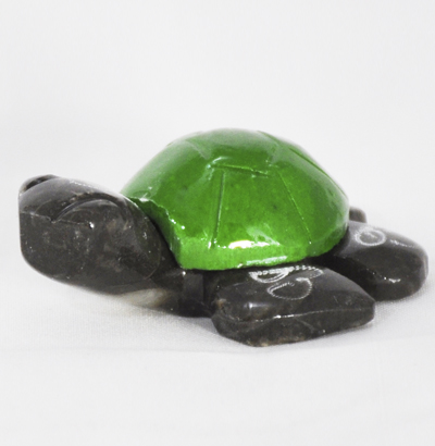 Marble Turtle 1.5″ Green Colored - Turtleman Foundation