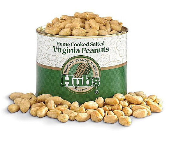 Hubs Salted Virginia Peanuts - 12 oz
