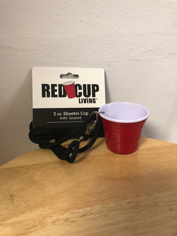 Red Cup Living 2oz Shooter Cup w/ lanyard