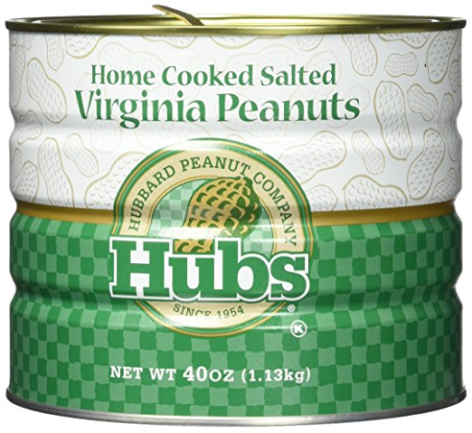 Hubs Salted Virginia Peanuts - 40 oz