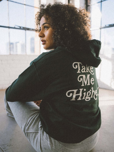 Take Me Higher Hoodie | Forest Green