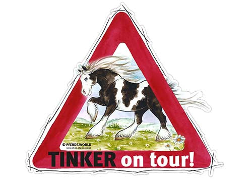 "Aufkleber ""Tinker on Tour"""