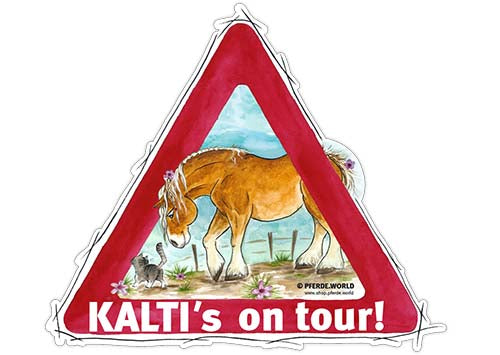 "Aufkleber ""Kalti´s on Tour"""