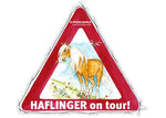 Aufkleber Haflinger on Tour