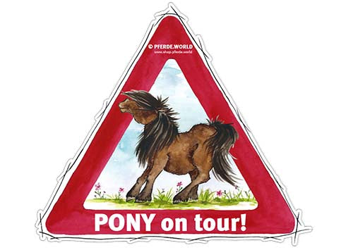 Aufkleber Pony on Tour