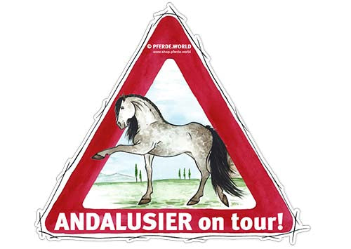 Aufkleber Andalusier on Tour