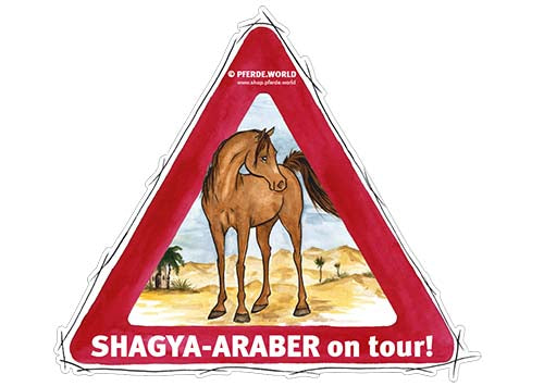 Aufkleber Shagya-Araber on Tour