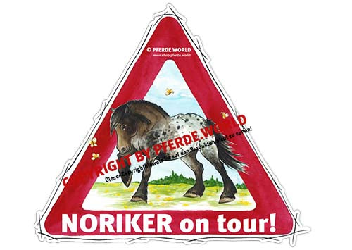 Aufkleber Noriker on Tour