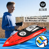 Altair AA Aqua RC Boat: Great Gift for Kids and Adults, Anti-Capsize Hull System