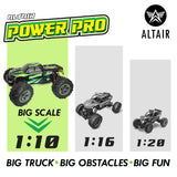 Altair Power Pro RC Truck Extended - 30 Minutes Continuous Run Time - Off-Road 4x4 Remote Control Electric Monster Truck
