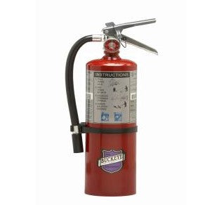 Buckeye 11214 Fire Extinguisher, Purple K, 5lb, 20BC, With Wall Bracket