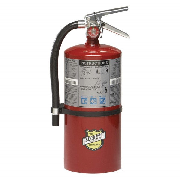 Buckeye 11310 Fire Extinguisher, ABC, 10lb, *Short 4A60BC With Wall Bracket