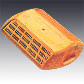 Model 828 Abrasion Resistant Type AR D Two Way Amber Reflective Plastic Pavement Marker 4""