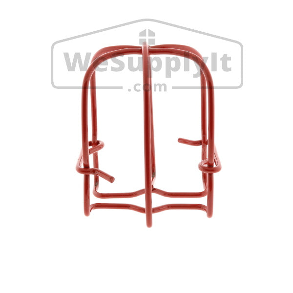 "Fire Sprinkler Head Guard, Standard, One Piece, 1/2"", Red"