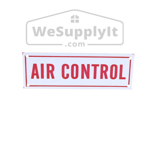 "Air Control Sign, Aluminum, 6"" x 2"""