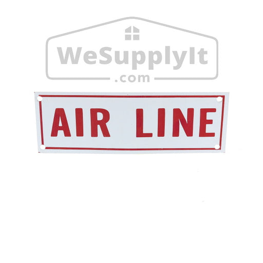"Air Line Sign, Aluminum, 6"" x 2"""
