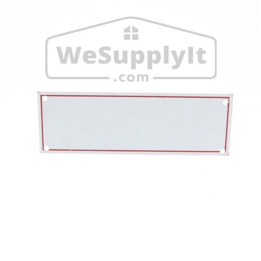 "Blank Sign White With Red Border, Aluminum, 6"" x 2"""