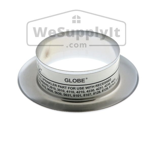"Globe GL Recessed Slip On Escutcheon -  1/2"" Adjustment- Available In Multiple Colors And Sizes - W631"