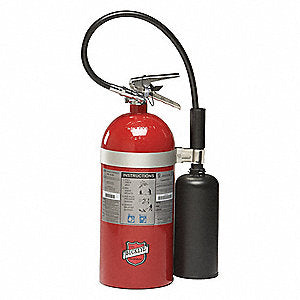 Buckeye 45600 Fire Extinguisher, Carbon Dioxide, 10lb, 10BC, With Wall Bracket