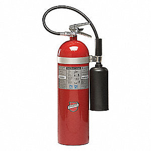 Buckeye 46100 Fire Extinguisher, Carbon Dioxide, 15lb, 10BC, With Wall Bracket