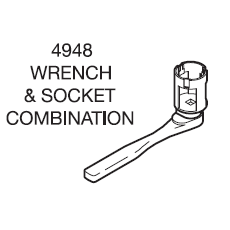Tyco Wrench 4948 Wrench & Socket Combo - W1124