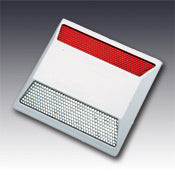 Model 921 Standard Type C Two Way Clear & Red Reflective Plastic Pavement Marker 4""
