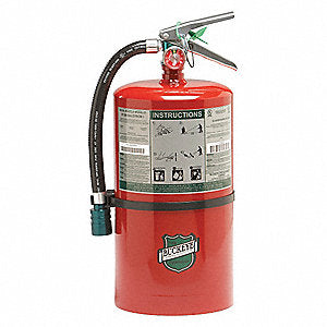 Buckeye 71550 Fire Extinguisher, Halotron, 15.5lb, 2A10BC, With Wall Bracket