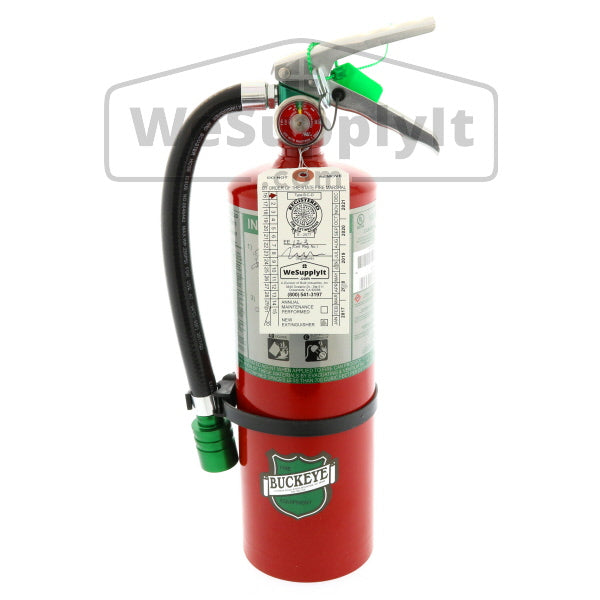 Buckeye 75550 Fire Extinguisher, Halotron, 5.5lb, 5BC, With Wall Bracket