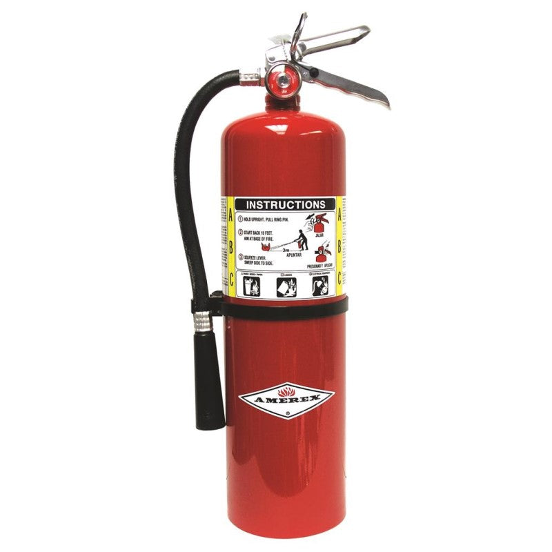 Amerex B456 Fire Extinguisher, ABC, 10lb, 4A80BC With Wall Bracket