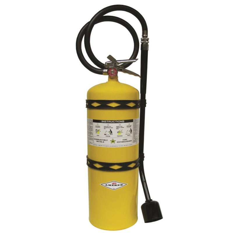 Amerex B571 Fire Extinguisher, Class D Dry Powder, 30lb Copper With Wall Hook